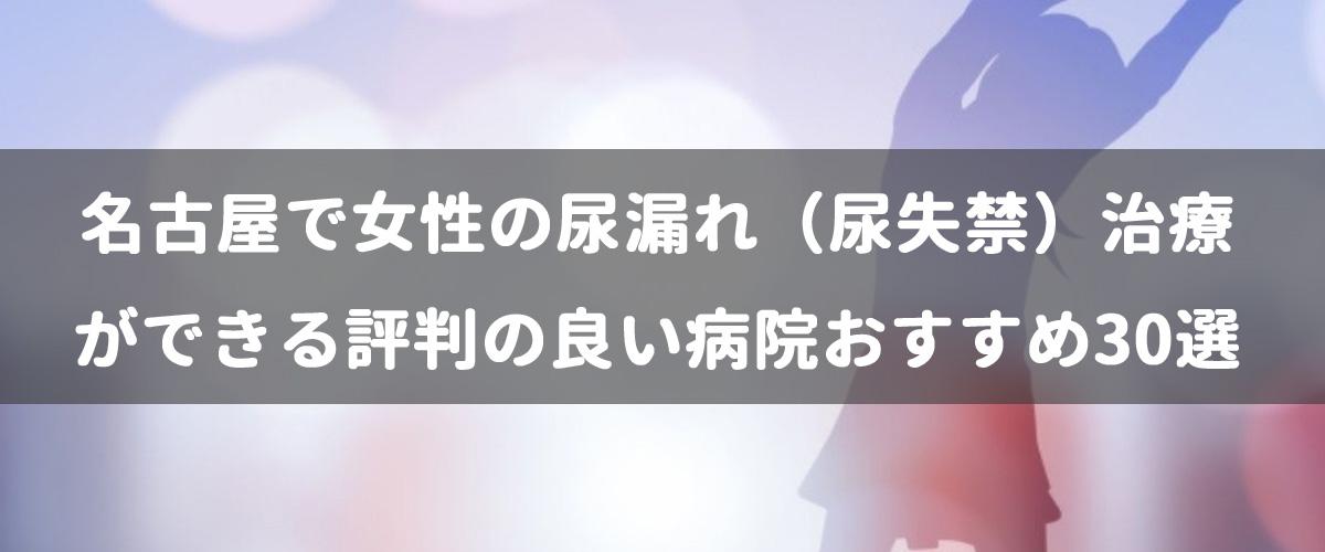 名古屋で女性の尿漏れ(尿失禁)治療ができる評判の良い病院おすすめ30選
