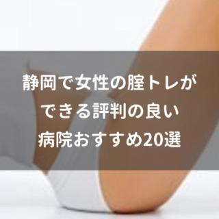 静岡で女性の腟トレができる評判の良い病院おすすめ20選