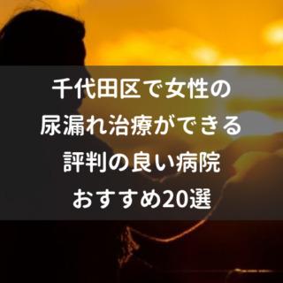 千代田区で女性の尿漏れ治療ができる評判の良い病院おすすめ20選