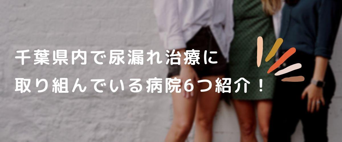 千葉県内で尿漏れ治療に取り組んでいる病院6つ紹介