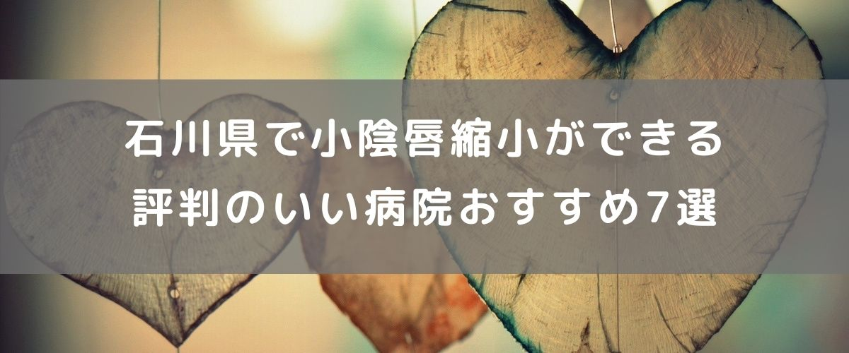 石川県で小陰唇縮小ができる評判のいい病院おすすめ7選