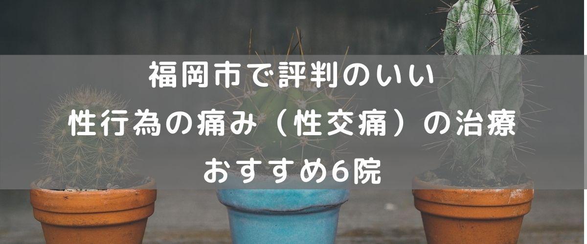 福岡市で評判のいい性行為の痛み(性交痛)の治療 おすすめ6院
