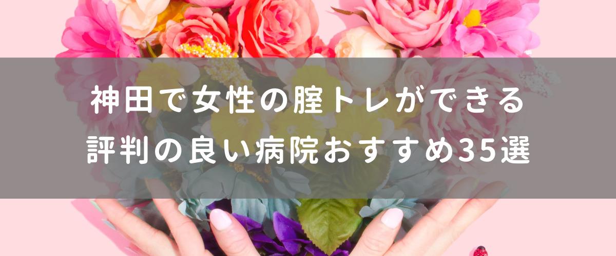 神田で女性の腟トレができる評判の良い病院おすすめ35選