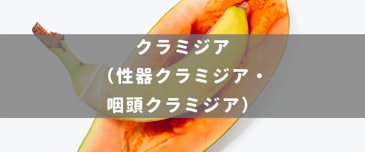 クラミジア(性器クラミジア・咽頭クラミジア)
