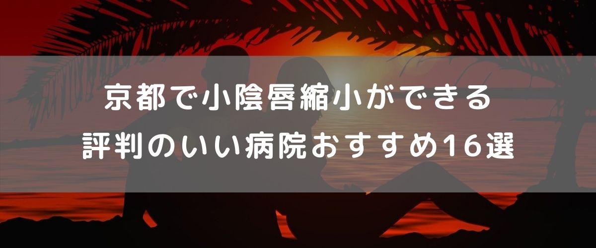京都で小陰唇縮小ができる評判のいい病院おすすめ17選