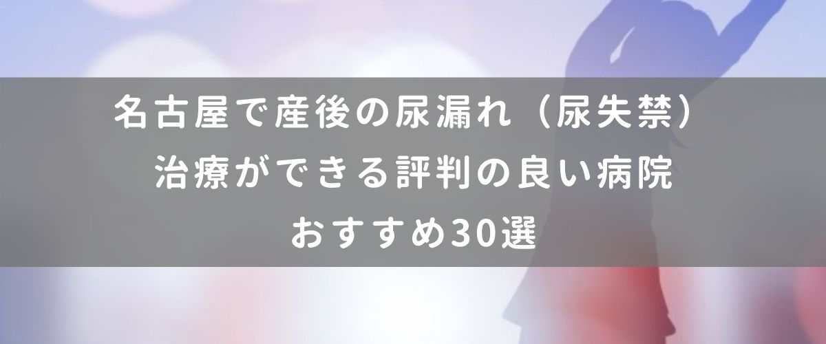 名古屋で産後の尿漏れ(尿失禁)治療ができる評判の良い病院おすすめ30選