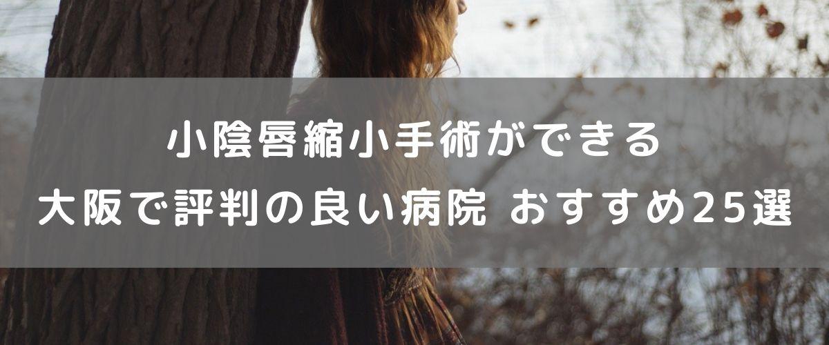 小陰唇縮小手術ができる大阪で評判の良い病院 おすすめ25選