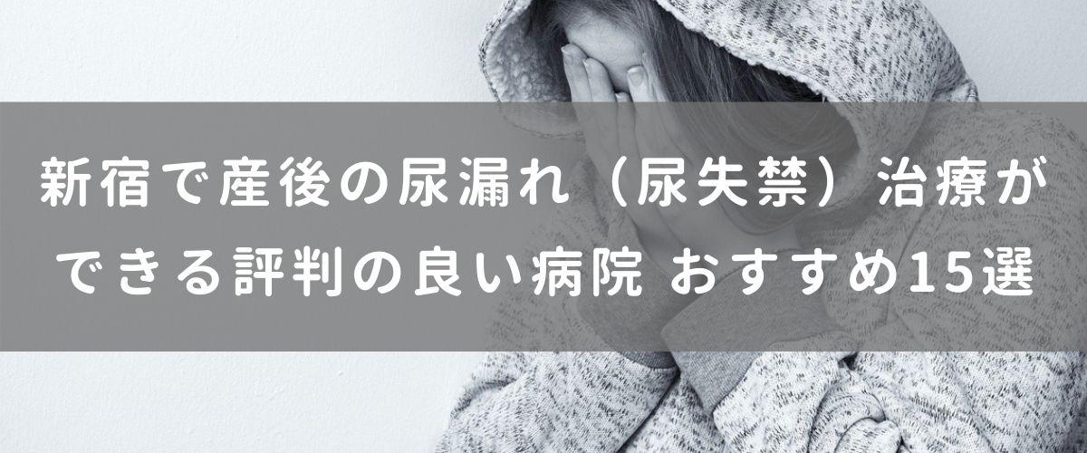 新宿で産後の尿漏れ(尿失禁)治療が できる評判の良い病院 おすすめ15選