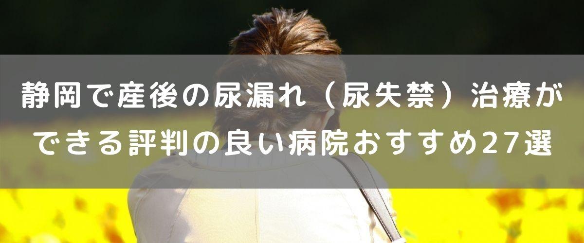 静岡で産後の尿漏れ(尿失禁)治療ができる評判の良い病院おすすめ27選