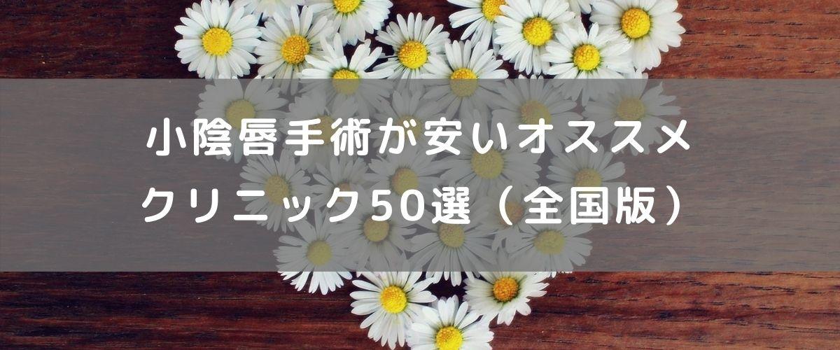 小陰唇手術が安いオススメクリニック50選(全国版)