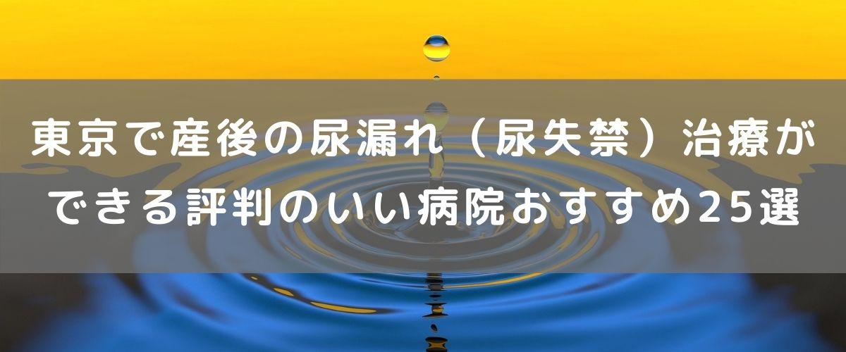 東京で産後の尿漏れ(尿失禁)治療ができる評判のいい病院おすすめ25選